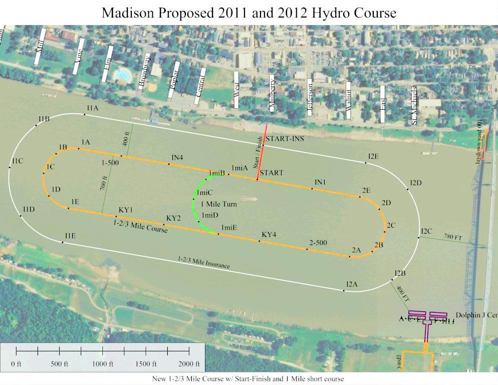 Madison race course for 2011-2012