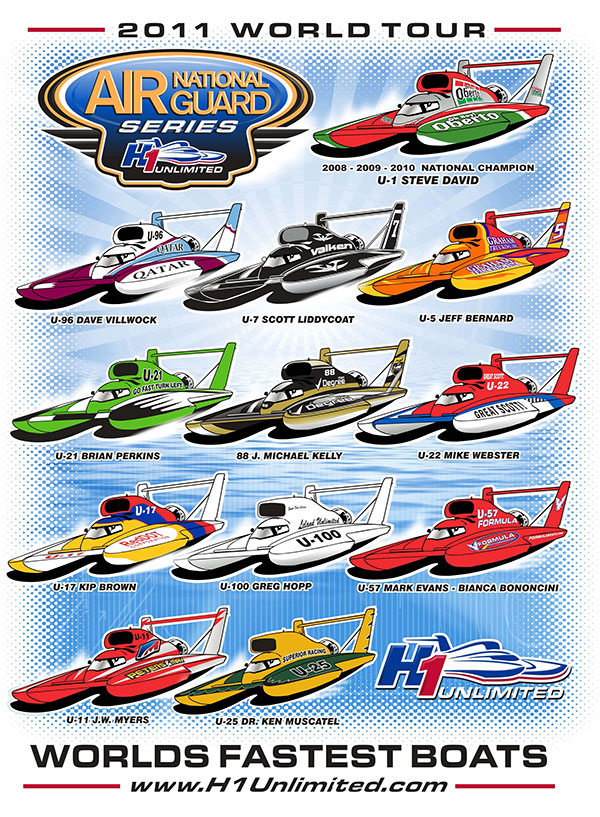 Air National Guard H1 Unlimited 2011 Spotter's Guide