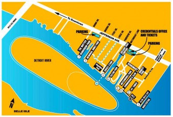 Detroit APBA Gold Cup Course Map