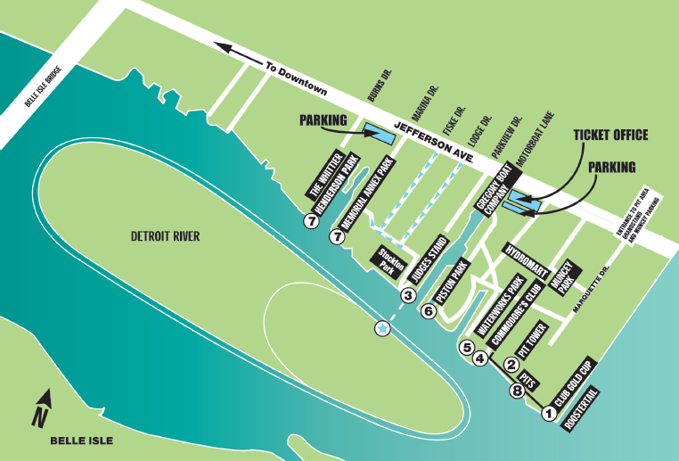 Gold Cup Course Map