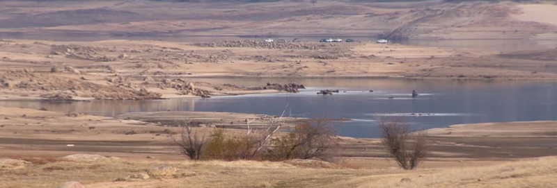 Water Level Low at Folsom Lake